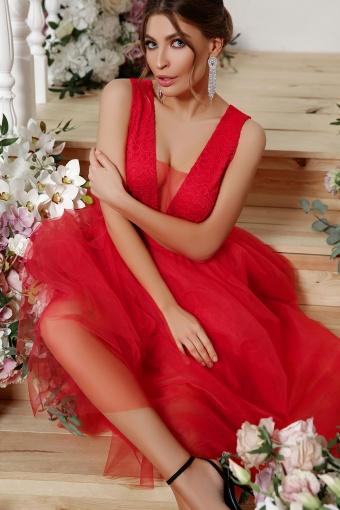 . Платье Шелли б/р. Цвет: красный в интернет-магазине