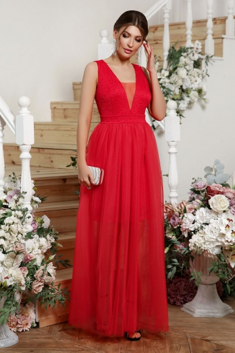. Платье Шелли б/р. Цвет: красный купить