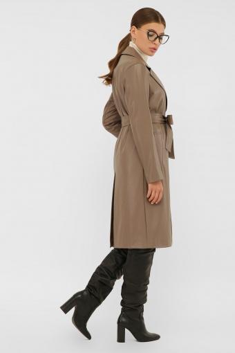 кожаный плащ коричневого цвета. Плащ 108-100 (К). Колір: 604-серо-коричневый в Украине