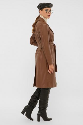 кожаный плащ коричневого цвета. Плащ 108-100 (К). Колір: 607-коричневый в Украине