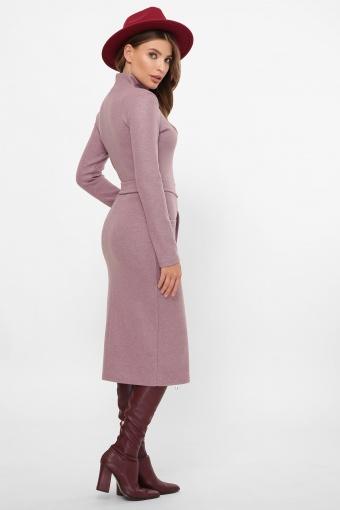 теплое платье-футляр. Платье Виталина 1 д/р. Цвет: т. лиловый недорого
