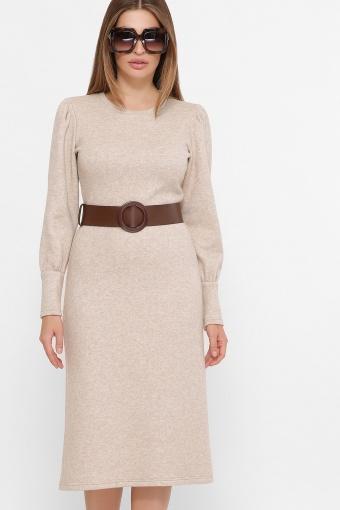 терракотовое платье из ангоры. Платье Жизель д/р. Цвет: св. бежевый цена