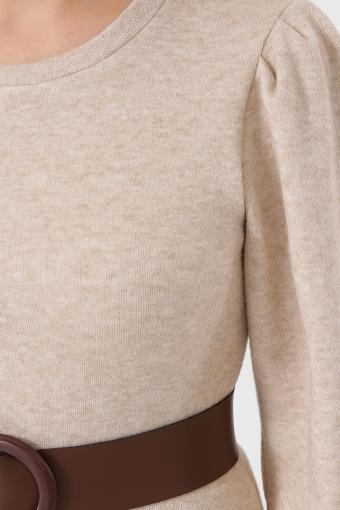 терракотовое платье из ангоры. Платье Жизель д/р. Цвет: св. бежевый в Украине