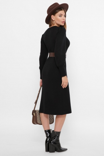 терракотовое платье из ангоры. Платье Жизель д/р. Цвет: черный в интернет-магазине