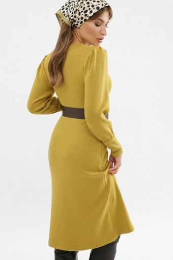 терракотовое платье из ангоры. Платье Жизель д/р. Цвет: горчица в Украине