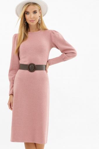 терракотовое платье из ангоры. Платье Жизель д/р. Цвет: пыльная роза цена