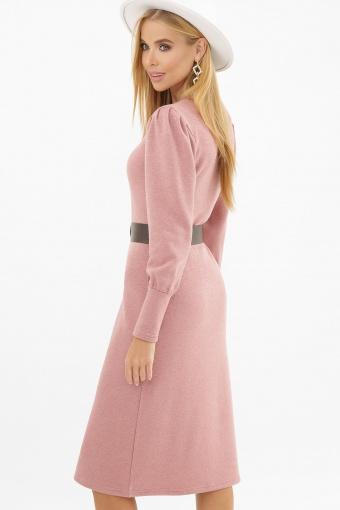 терракотовое платье из ангоры. Платье Жизель д/р. Цвет: пыльная роза недорого