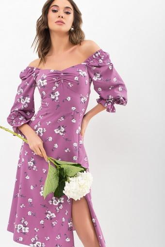 . Платье Пала д/р. Цвет: фрез-белый букет купить