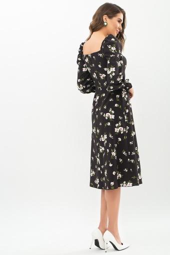 . Платье Пала д/р. Цвет: черный-белый букет в Украине