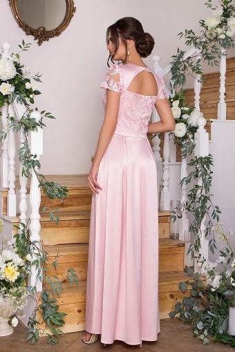 синее платье в пол. Платье Лорена к/р. Цвет: пудра в интернет-магазине