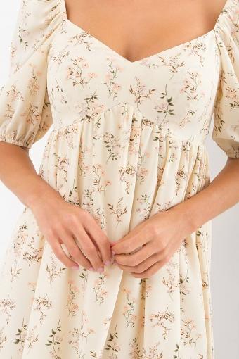 . Платье Эсмина к/р. Цвет: молоко-полевые цветы недорого