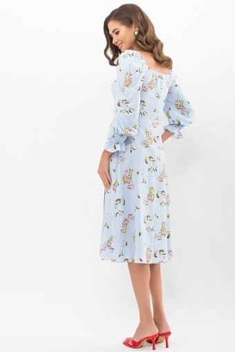 . Платье Пала д/р. Цвет: голубой-цветы-ягоды в Украине