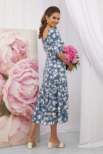 . Платье Аделаида к/р. Цвет: джинс-белые цветы в Украине