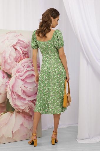 . Платье Билла к/р. Цвет: зеленый-розов. Розы в Украине