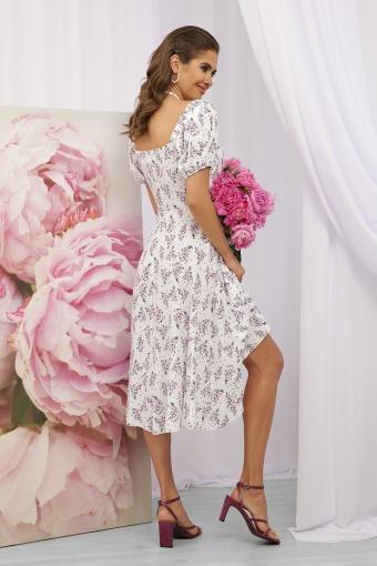 . Платье Билла к/р. Цвет: белый-сиреневый букет в Украине