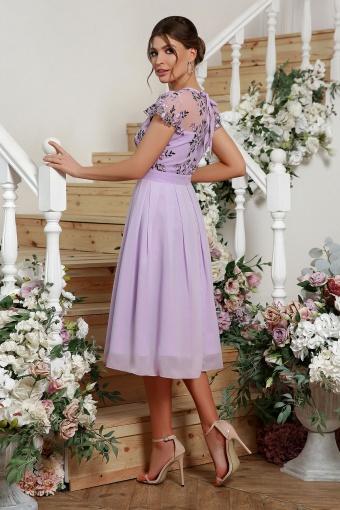 нежное платье миди. Платье Айседора б/р. Цвет: лавандовый 2 в Украине