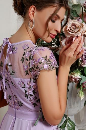 нежное платье миди. Платье Айседора б/р. Цвет: лавандовый 2 недорого