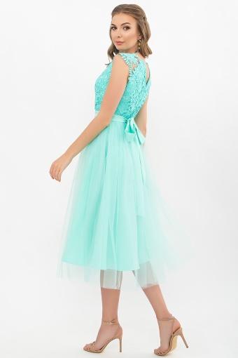 пышное платье миди. Платье Джуди б/р. Цвет: ментол в интернет-магазине