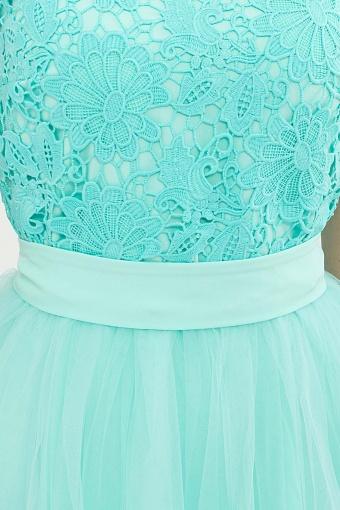 пышное платье миди. Платье Джуди б/р. Цвет: ментол в Украине