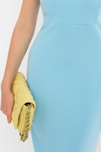 черное платье на тонких бретелях. Платье Кеори б/р. Цвет: голубой в Украине