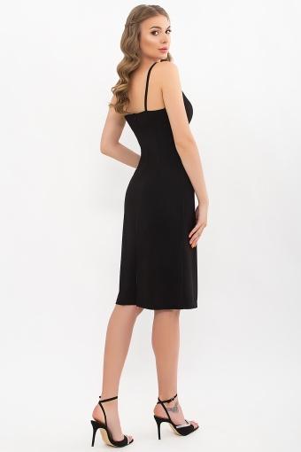 черное платье на тонких бретелях. Платье Кеори б/р. Цвет: черный в интернет-магазине