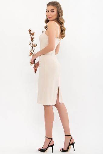 черное платье на тонких бретелях. Платье Кеори б/р. Цвет: св. бежевый в интернет-магазине