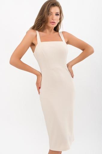 персиковое платье-футляр. Платье Абаль б/р. Цвет: бежевый цена