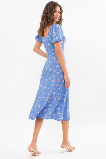 . Платье Билла к/р. Цвет: голубой-розовые цветы в интернет-магазине