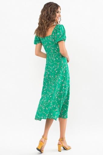 . Платье Билла к/р. Цвет: зеленый-цветы веточки в Украине