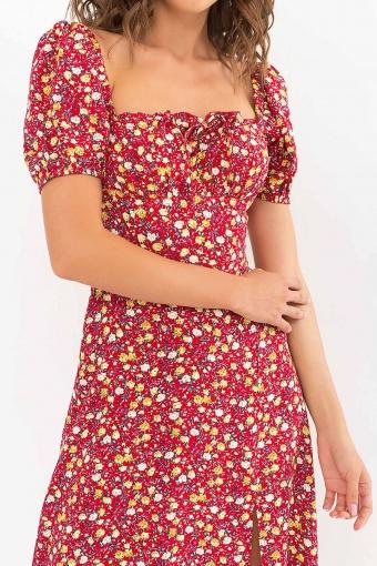 . Платье Билла к/р. Цвет: красный-желтые Розы в Украине