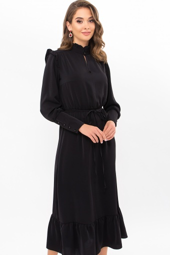 изумрудное платье миди. Платье Фернанда д/р. Цвет: черный цена