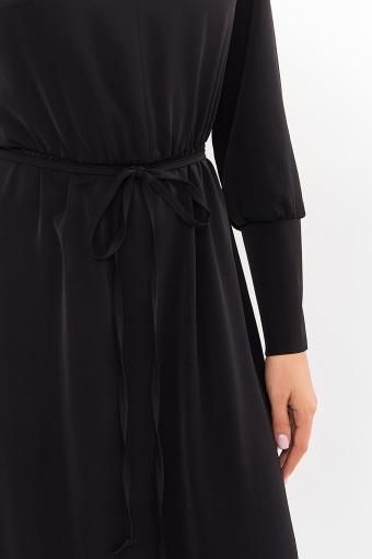 изумрудное платье миди. Платье Фернанда д/р. Цвет: черный в Украине