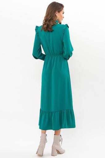 изумрудное платье миди. Платье Фернанда д/р. Цвет: изумруд в интернет-магазине