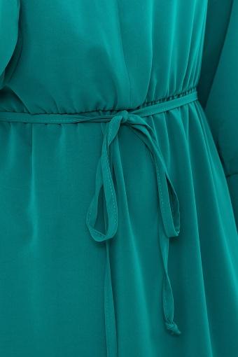 изумрудное платье миди. Платье Фернанда д/р. Цвет: изумруд недорого