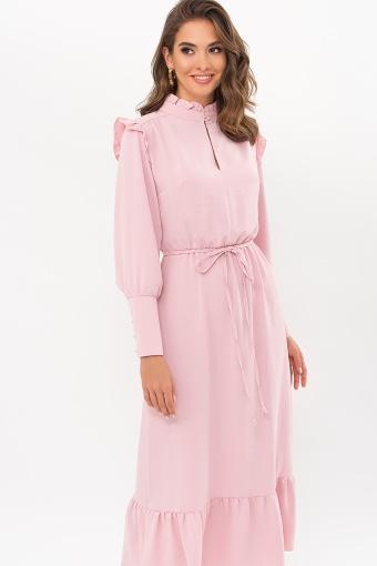 изумрудное платье миди. Платье Фернанда д/р. Цвет: пудра цена