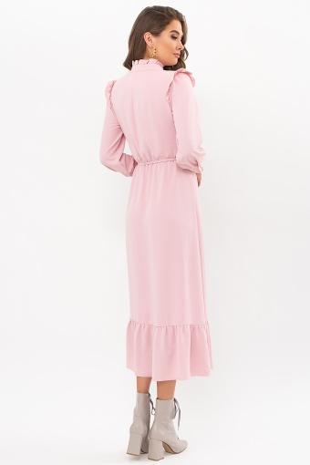 изумрудное платье миди. Платье Фернанда д/р. Цвет: пудра в Украине