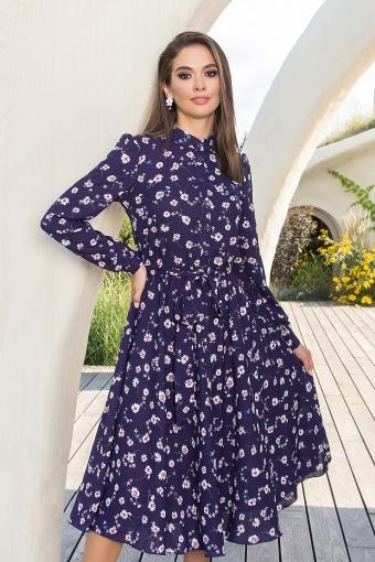 платье синего цвета с ромашками. Платье Изольда-1 д/р. Цвет: синий-ромашки цена