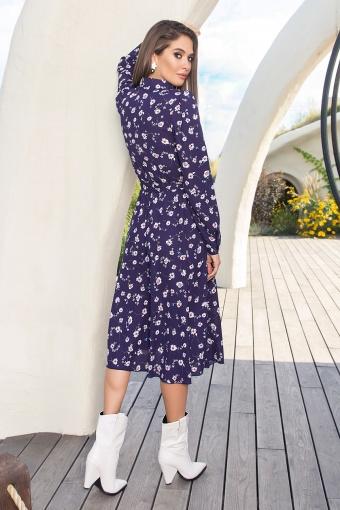платье синего цвета с ромашками. Платье Изольда-1 д/р. Цвет: синий-ромашки в Украине