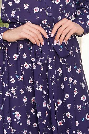 платье синего цвета с ромашками. Платье Изольда-1 д/р. Цвет: синий-ромашки недорого