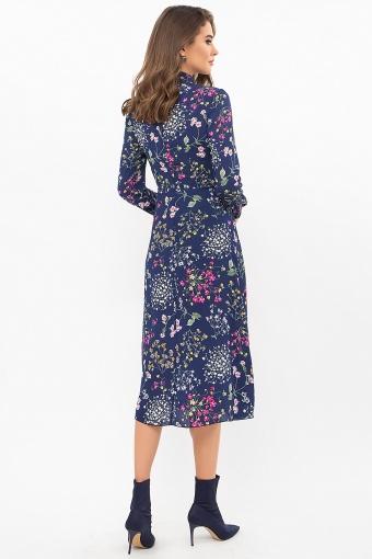 . Платье Санторини д/р. Цвет: синий-полевые цветы в интернет-магазине