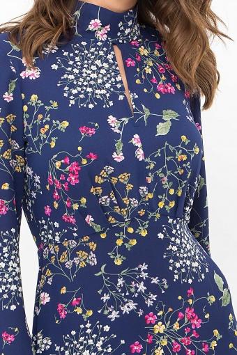 . Платье Санторини д/р. Цвет: синий-полевые цветы в Украине