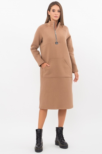 розовое спортивное платье. Платье Айсин д/р. Цвет: капучино недорого