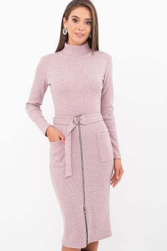 теплое платье-футляр. Платье Виталина 1 д/р. Цвет: пыльная роза купить