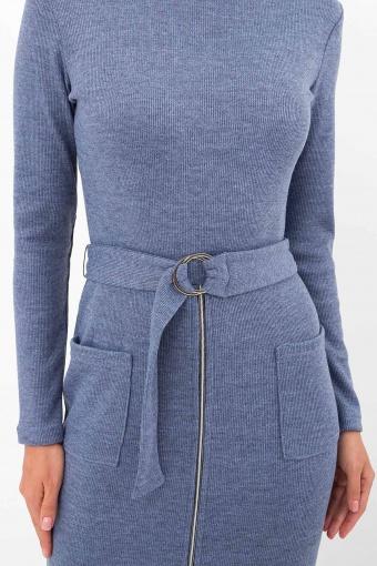 теплое платье-футляр. Платье Виталина 1 д/р. Цвет: джинс в Украине