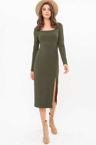 . Платье Некста д/р. Цвет: хаки цена