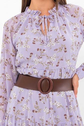 . Платье Мариэтта д/р. Цвет: лаванда-белые цветы недорого