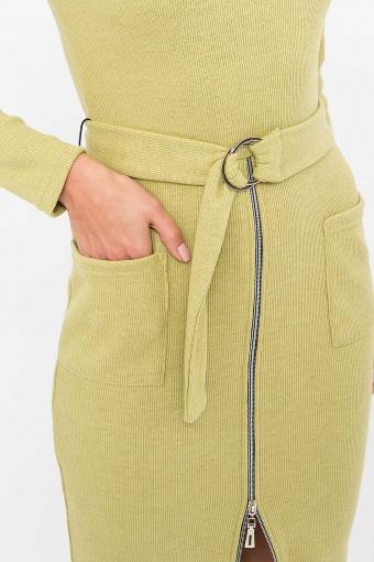 теплое платье-футляр. Платье Виталина 1 д/р. Цвет: оливковый в Украине