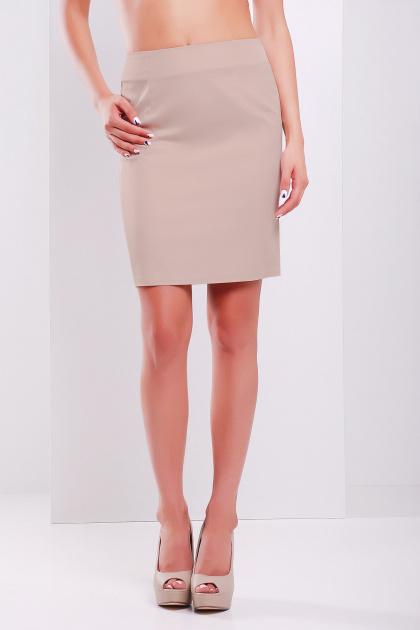 Прямая юбка выше колена кораллового цвета. юбка мод. №1. Цвет: темно бежевый