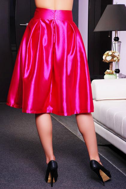 черная юбка с бантом. юбка мод. №10. Цвет: фуксия