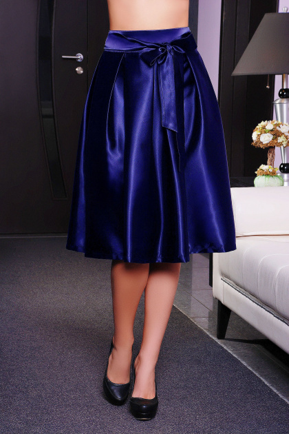черная юбка с бантом. юбка мод. №10. Цвет: темно синий